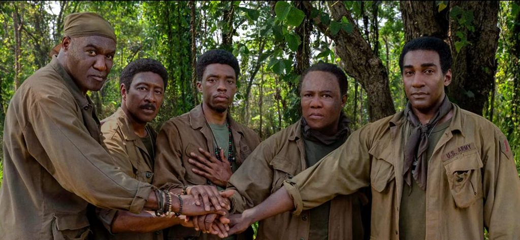 5 sangres, review, spike lee, delroy lindo, chadwick boseman