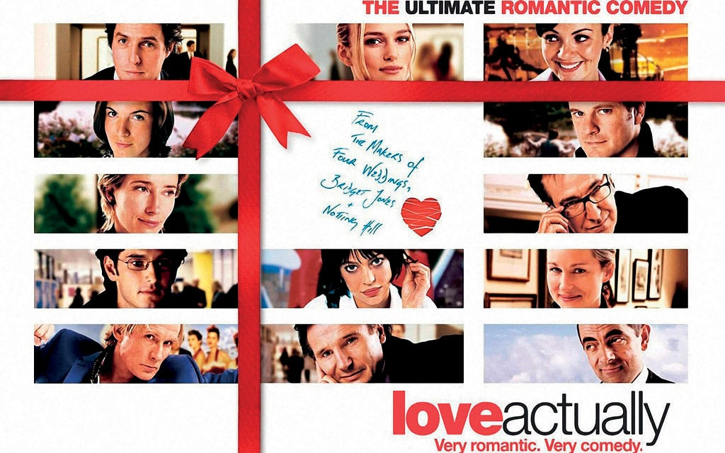 love actually, emma thompson, hugh grant, alan rickman, liam neeson, colin firth, top peliculas navideñas