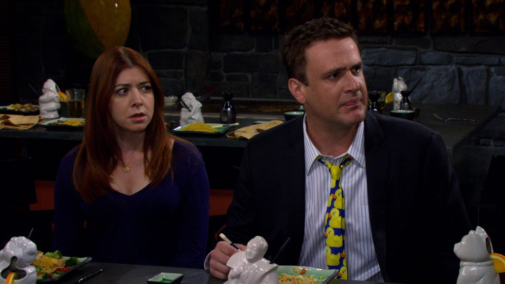 Jason Segel y Alyson Hannigan en how i met your mother