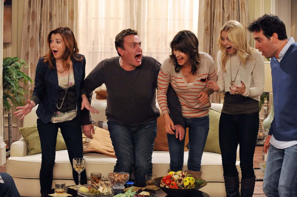 Josh Radnor. Jason Segel, Cobie Smulders, Alyson Hannigan y Jennifer Morrison en how i met your mother