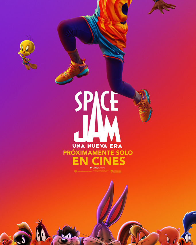 space jam, lebron james, looney tunes, trailer final, poster oficial